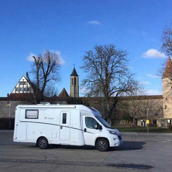 Dethleffs Just 90 T 6812 EB unterwegs in Rothenburg ob der Tauber